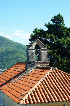 The roof of the church of St. Sava in Herceg Novi