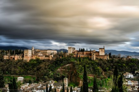 View of  Alhambra in Granada