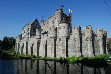 Medieval castle Gravensteen (Castle of the Counts)...