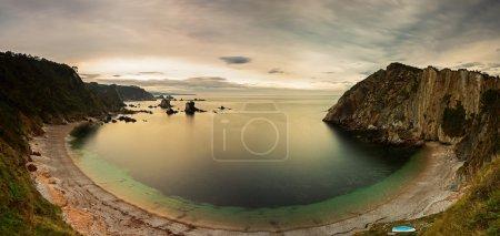 Silencio atlantic beach in Spain