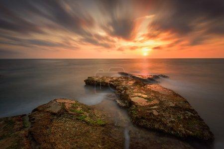 Atlantic rocky coast in northwestern Spain near to...