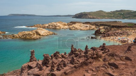 Stone formations on Menorca's beach