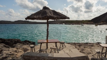 Beach Binibequer on Menorca Island