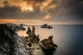Liencres rocks on coast in Spain
