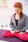 Woman having yoga meditation