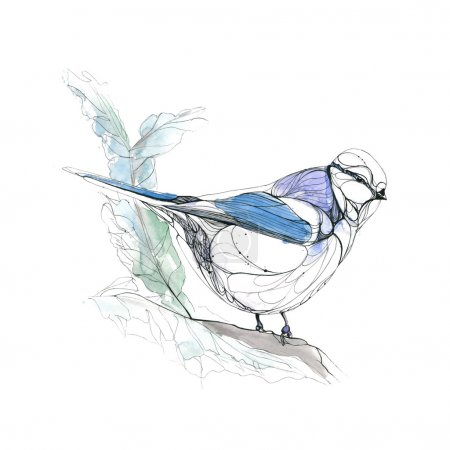 Illustration for Hand drawn watercolor illustration - Royalty Free Image
