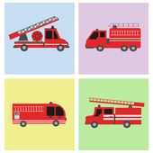 Transportation Fire truck flat icon