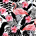 Tropical bird vector pattern...