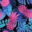 Tropical floral vector pattern...
