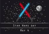 Star wars day vector