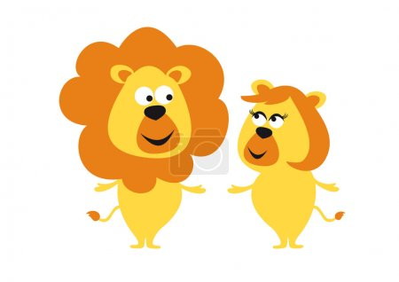Couple romancing lions.