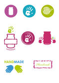 Logo for handmade products Homemade jams gifts and products for joy Set of icons Collection of icons homemade