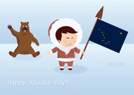 Happy Alaska Day vector