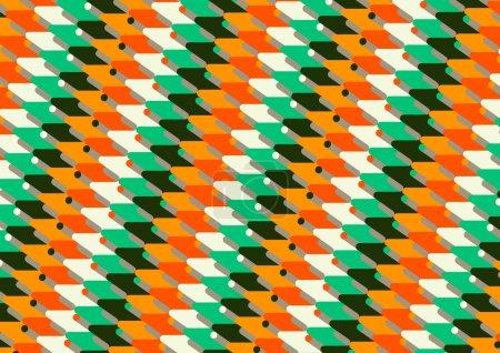 Ilustración de Oblicuo diagonal líneas dinámico patrón redondeado las esquinas lisas colores - Imagen libre de derechos