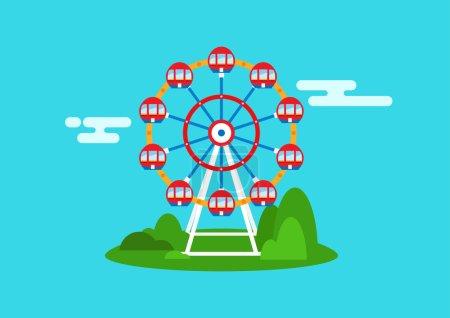 Beautiful ferris wheel design for your design works