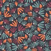 Vector floral pattern in doodle style with flowers and leaves Gentle spring floral background Vector seamless pattern can be use in design web site packing textile fabric