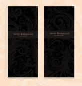 Premium royal vintage victorian set of templates dark brown floral classic backgrounds vector elegant design for restaurant menu book cover invitation brochure wall paper backdrops