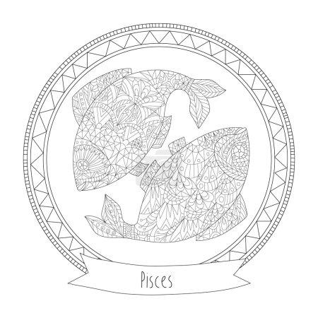 Horoscope symbol pisces