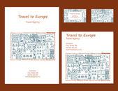 travel to Europe background design