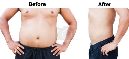 before and after body man fat belly after weight loss