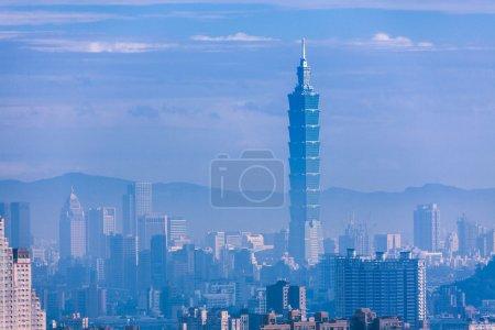 Photo pour Ville de Taipei, Taipei 101, Taiwan - image libre de droit
