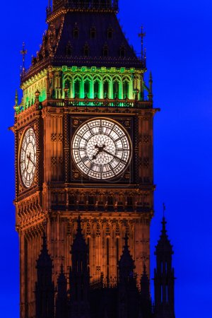 Big Ben at night close up, Westminster, London, UK
