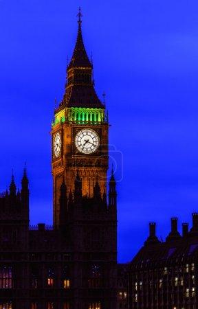 Big Ben at night, Westminster, London, UK