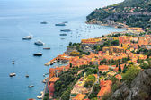View of Mediterranean luxury resort and bay with yachts. Nice, Cote d'Azur, France. French Riviera - turquoise sea and perfect