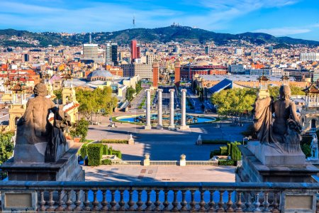 View of the center Barcelona. Spain in a summer day