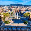 View of the center Barcelona. Spain in a summer da...
