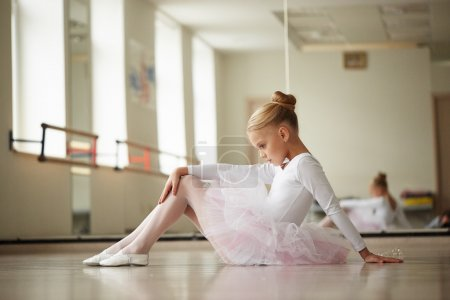 Teen beautiful ballerina posing in the image