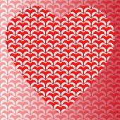 Background pattern heart shaped red