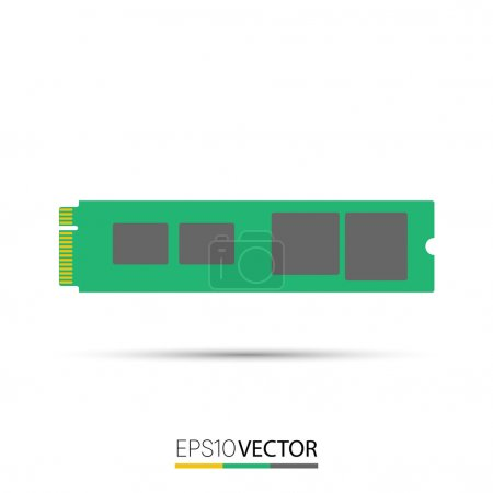 Illustration for M.2 Solid State Drives, M key - Royalty Free Image