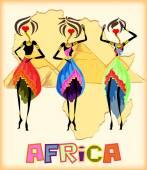 Pozdrav card - Vítejte do Afriky