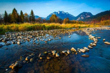 Fresh water stream and rock pattern in Pieniny, Slovakia