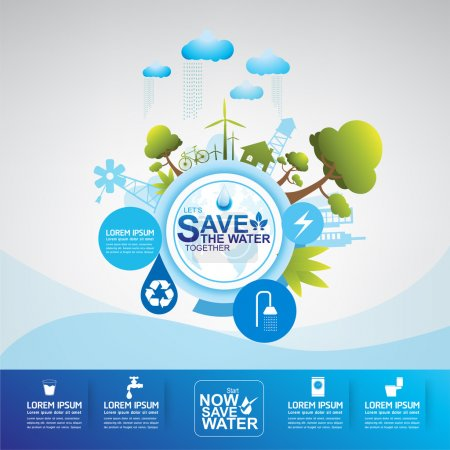 Illustration for This is save the water temple  vector .eps10 - Royalty Free Image