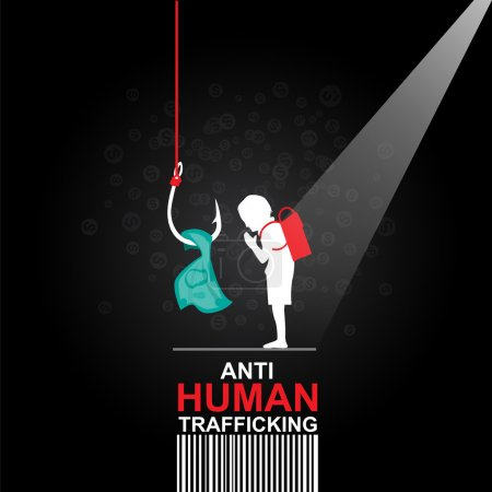 Stop Human Trafficking Vector Concept Human Sale.