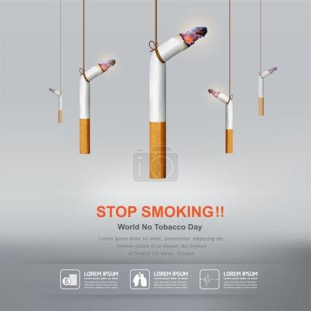 World No Tobacco Day Vector Concept Stop Smoking