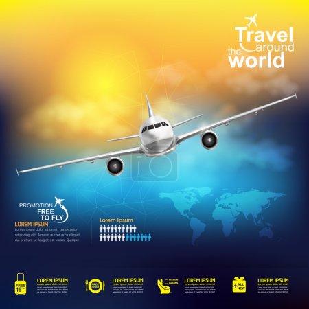 Illustration pour Ici Airline Vector eps 10 - image libre de droit
