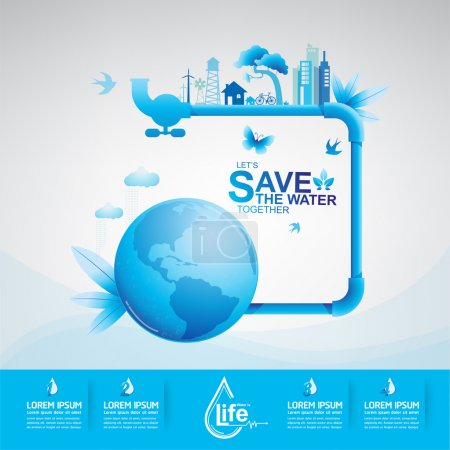 Illustration for This is Save Water Vector eps 10 - Royalty Free Image