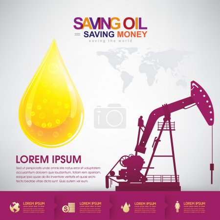 Saving oil saving money