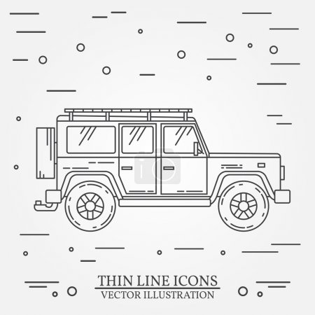 Jeep thin line Jeep travel