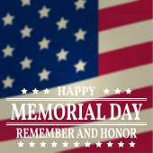 Happy Memorial Day background template Happy Memorial Day poster Remember and honor on top of American flag Patriotic banner Vector illustration