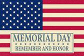 Šťastný Memorial Day pozadí šablony. Šťastný Memorial Day plakát. Nezapomeňte a čest na americkou vlajku. Vlastenecké nápis. Vektorové ilustrace