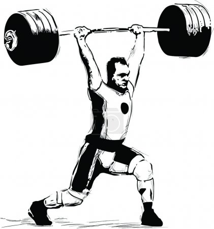 clean and jerk in vector format