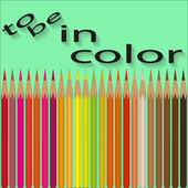 Set of colored pencils by warm colors