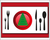 Christmas table setting Cutlery