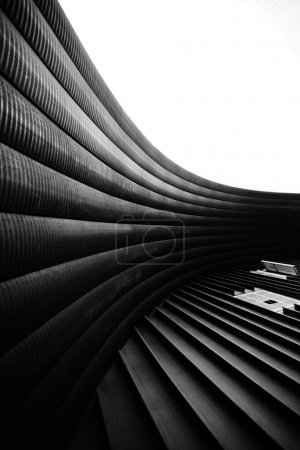 Modern abstract in architectural shapes. Black and white shot
