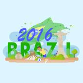 Brazil with 2016 text great for your design