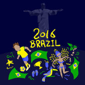 Brazil flag with 2016 text great for your design